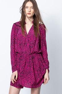 Reveal Leo Print Dress