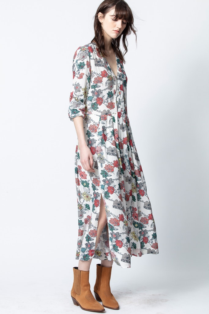 Robe Roux Print FFlower