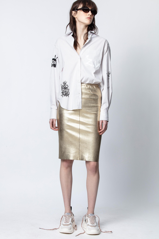 Jaden Metal Dégradé Skirt