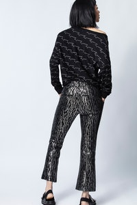 Polis Velours Paillettes Pants