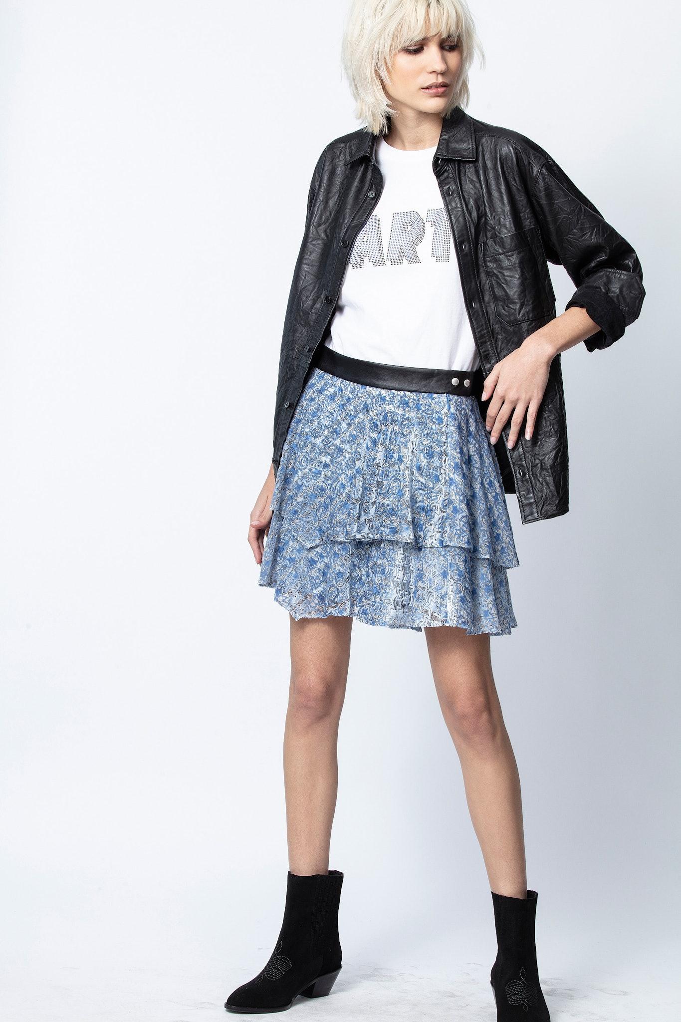 Jim Burnout Velvet Skirt