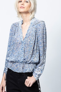 Tori Burnout Velvet Top