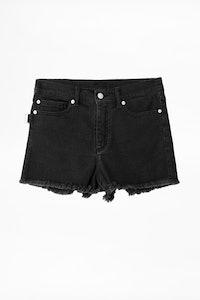Storm Black Print Voltaire Shorts