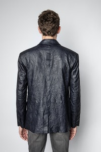 Veste Valfried Crinkle Leather