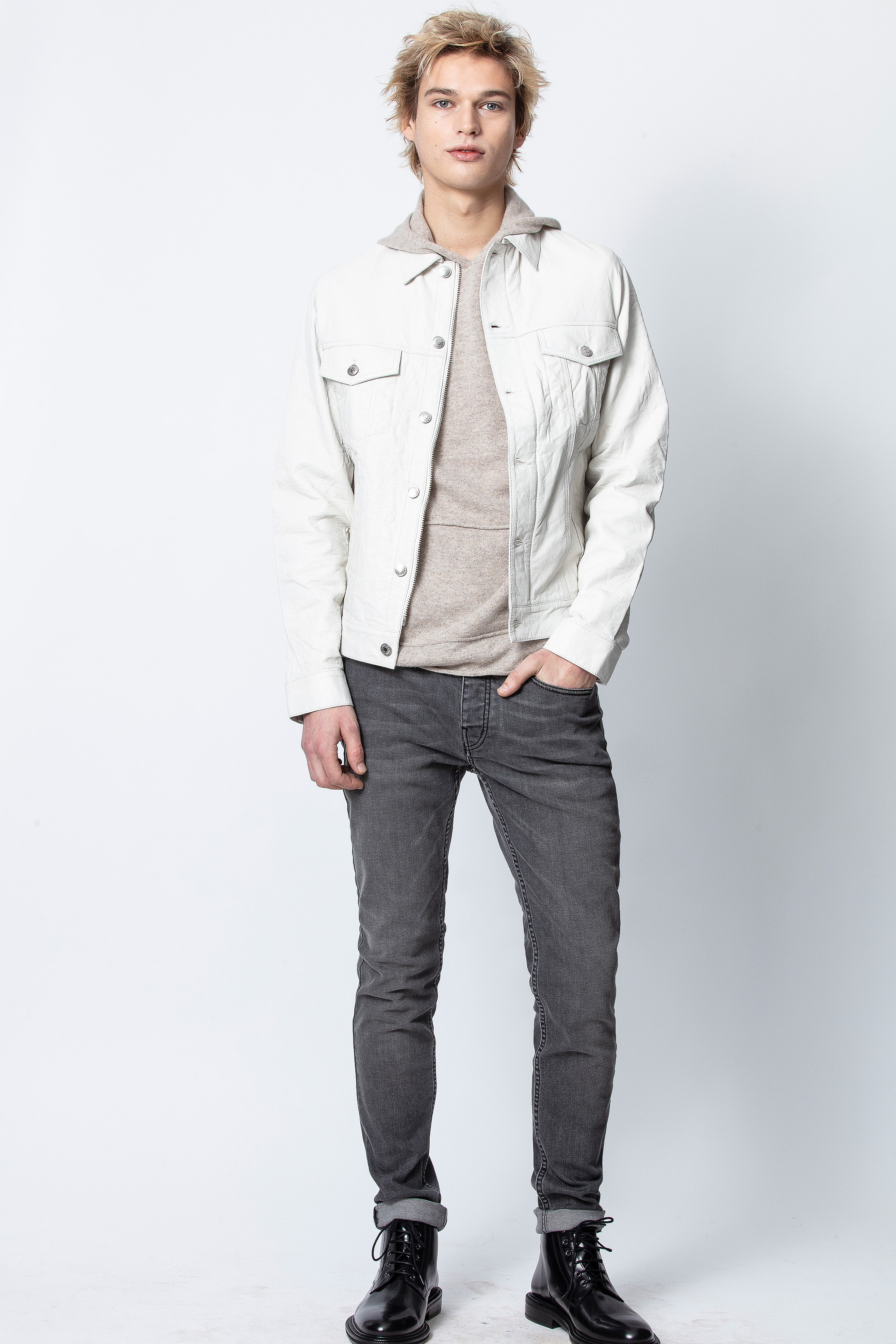 Blouson Base Crinkle Leather