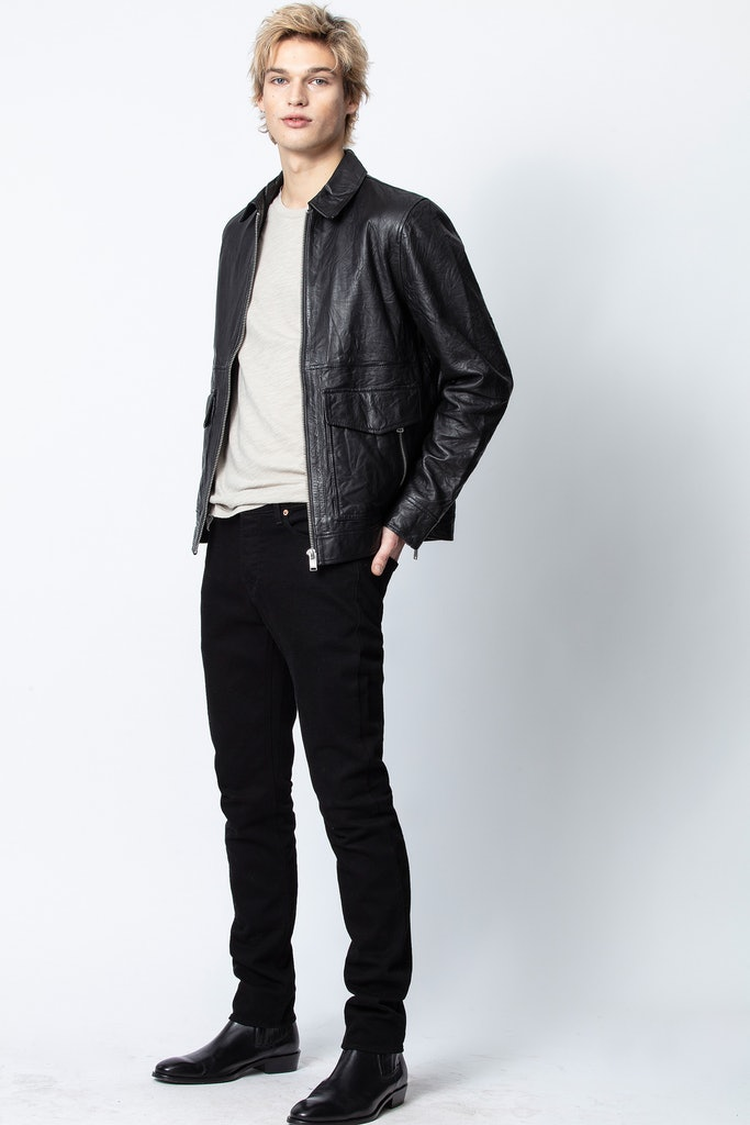 Blouson Bobby Crinkle Leather