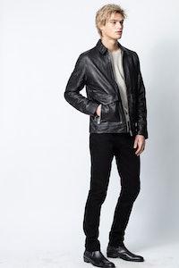 Blouson Bobby Crinkle Leather