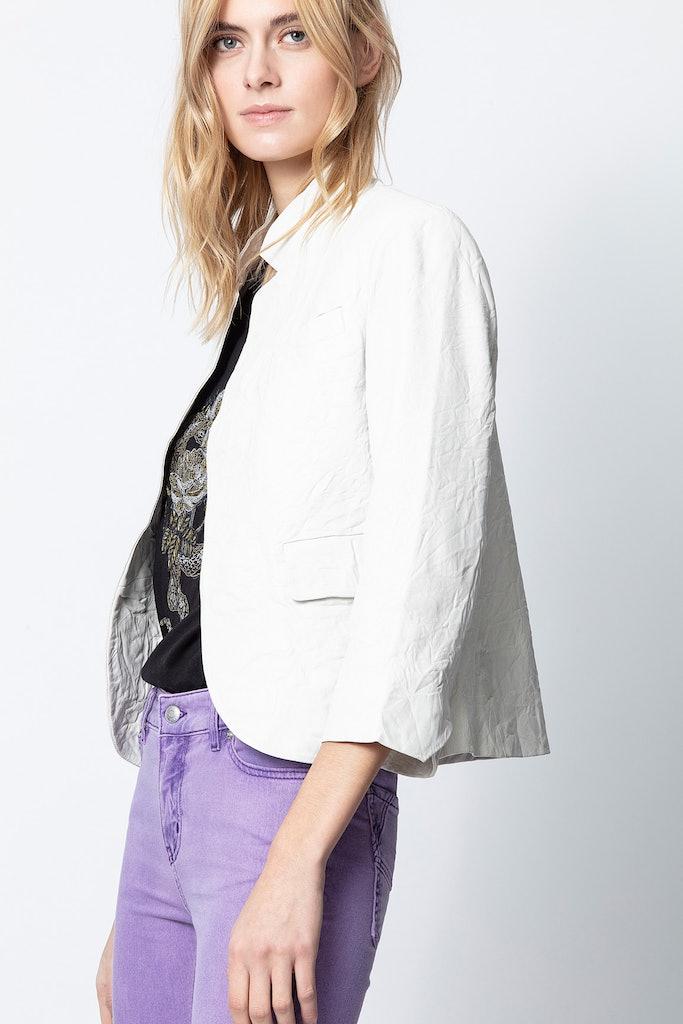 Verys Crinkle Leather Jacket