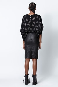 Roby Leaf Skull Cashmere Sweater