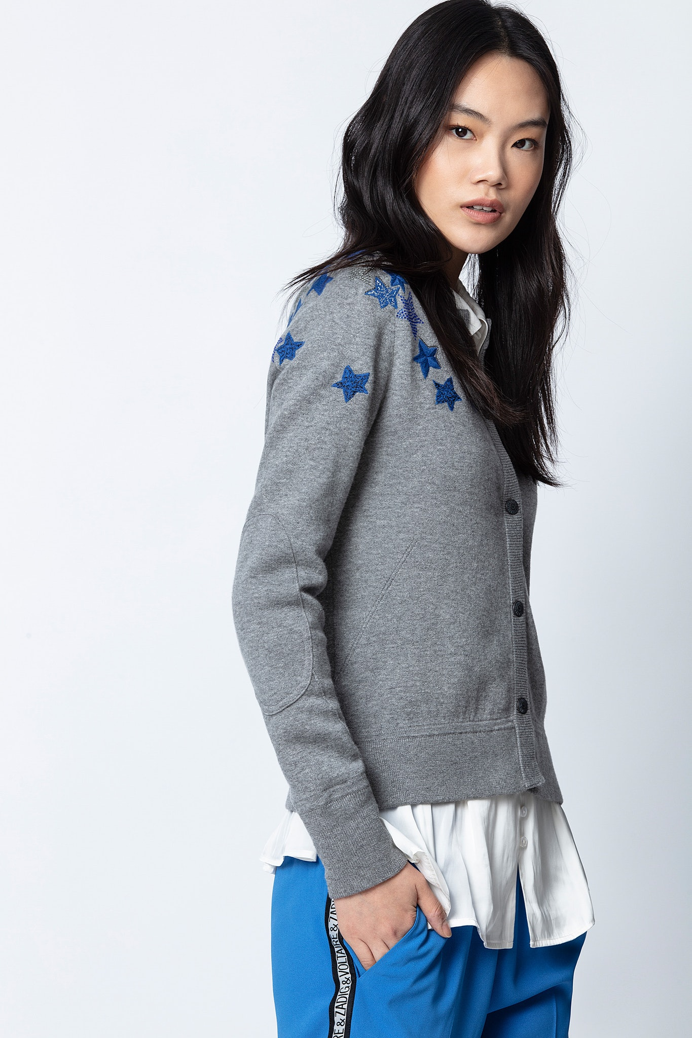 Cardigan Puky Cows Star Bestickt