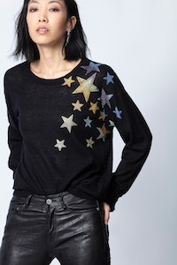 Kansas Star Strass Cashmere Sweater