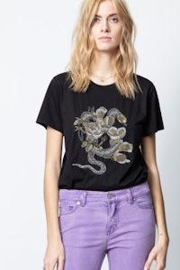 Aria Cannetille Snake Flower T-Shirt
