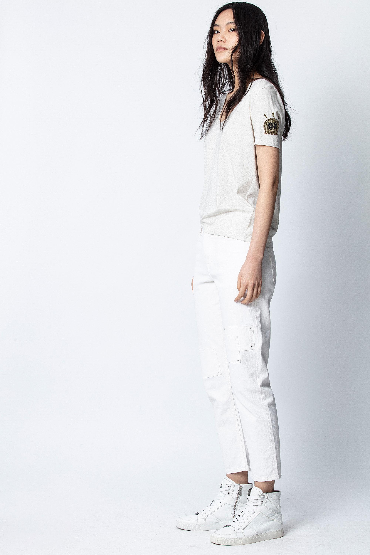 T-Shirt Tino Moni Cannetille Bestickt