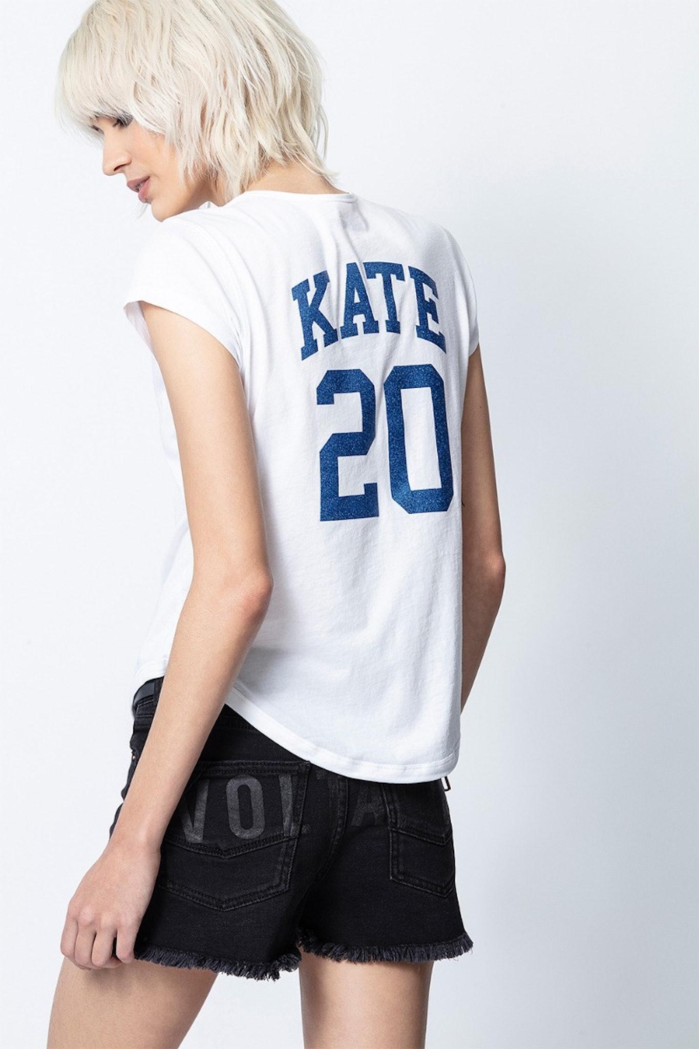Henley-Ausschnitt T-Shirt Karta Kate