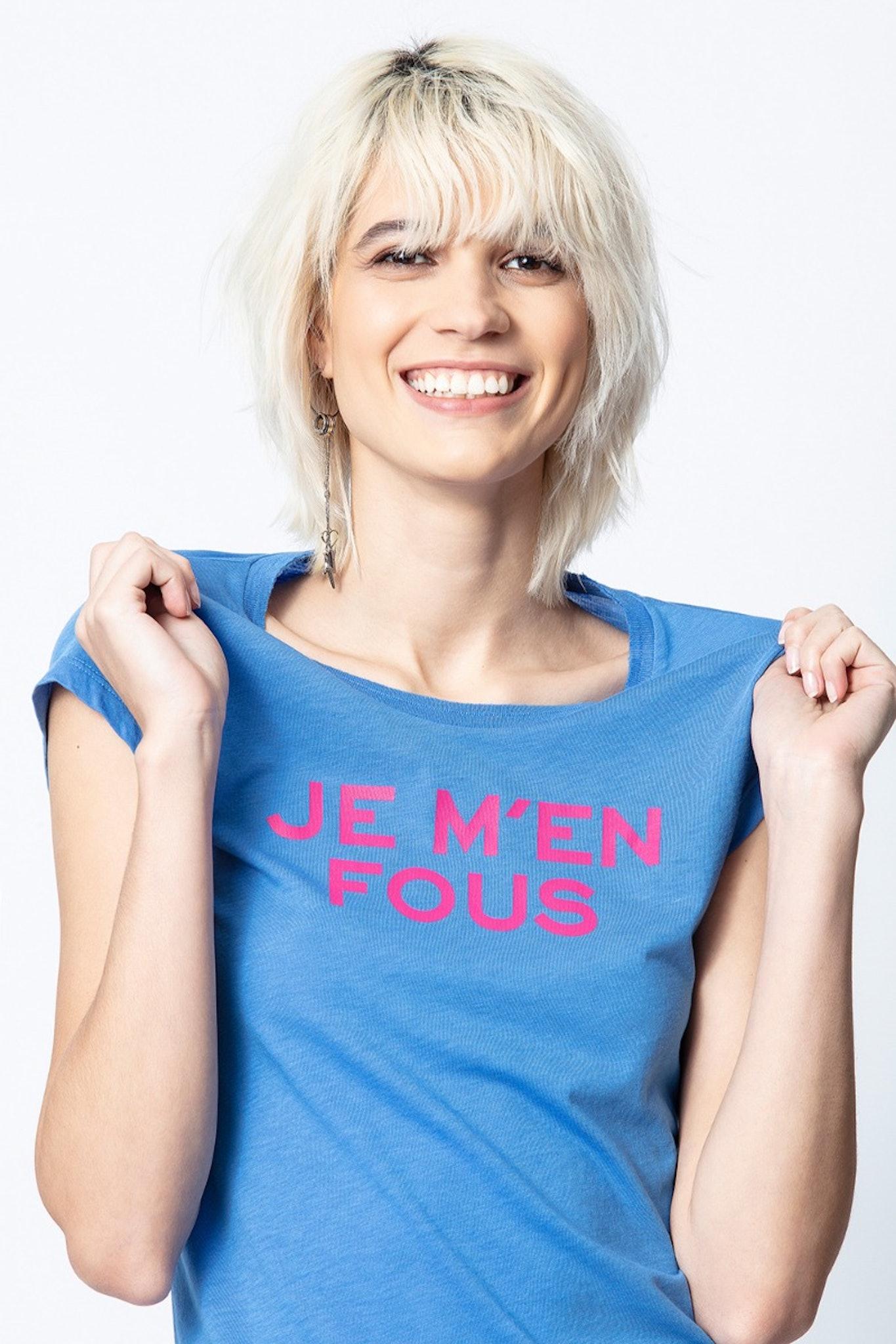 Camiseta Skinny Je M'en Fou