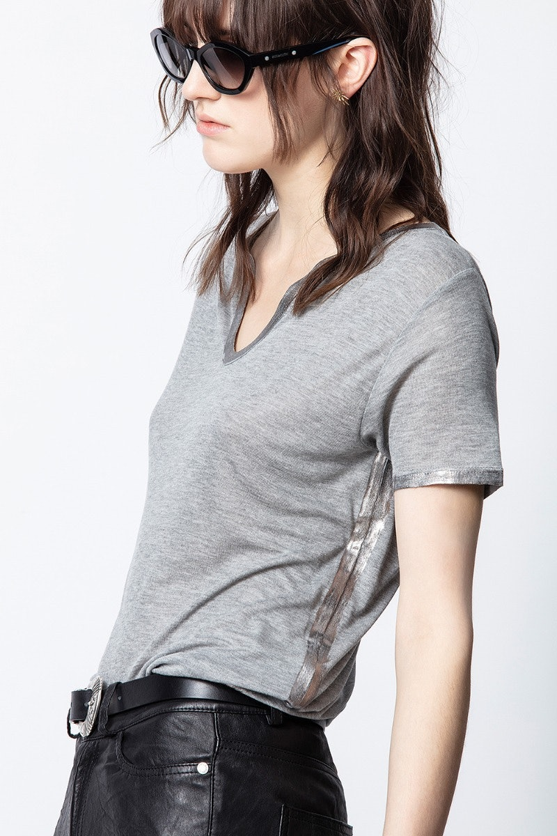 Henley-Ausschnitt T-Shirt Atal Foil