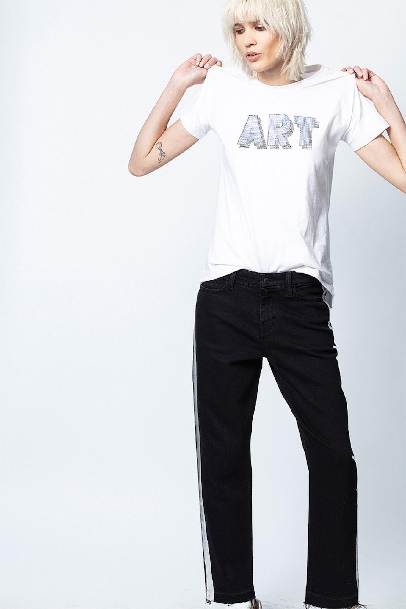 T-Shirt Tom Art 3D Strass