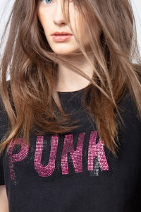 T-Shirt Tom Punk 3D Strass
