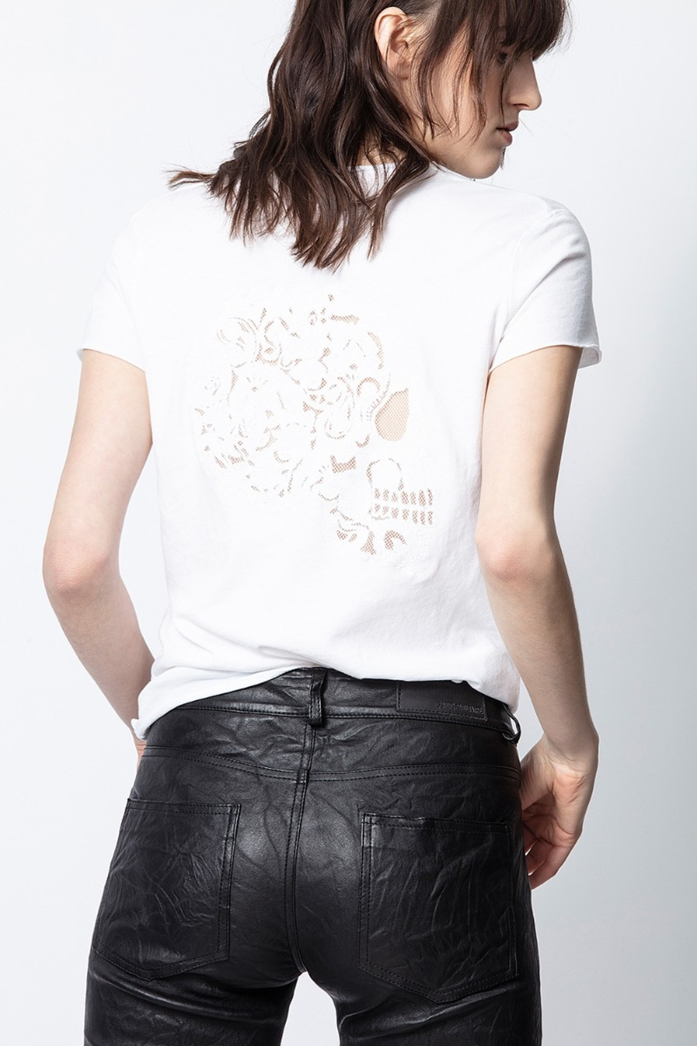 T-Shirt Story Fishnet Mandala Skull
