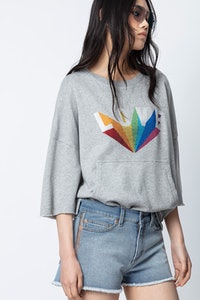 Sweatshirt Kaly Lobe Rainbow Strass