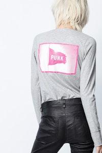 Henley-Ausschnitt T-Shirt Photoprint
