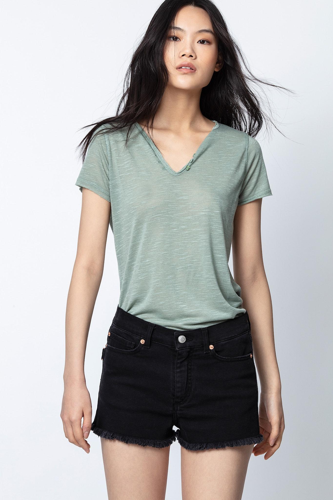 Slub Henley T-shirt