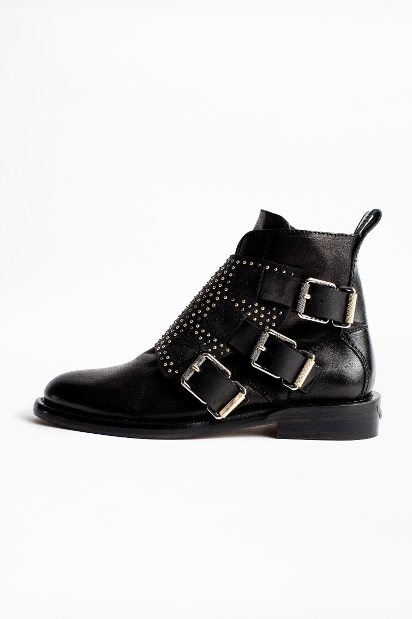 Laureen Flap Studs Ankle Boots