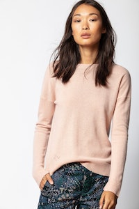 Cici Cachemire Patch Sweater