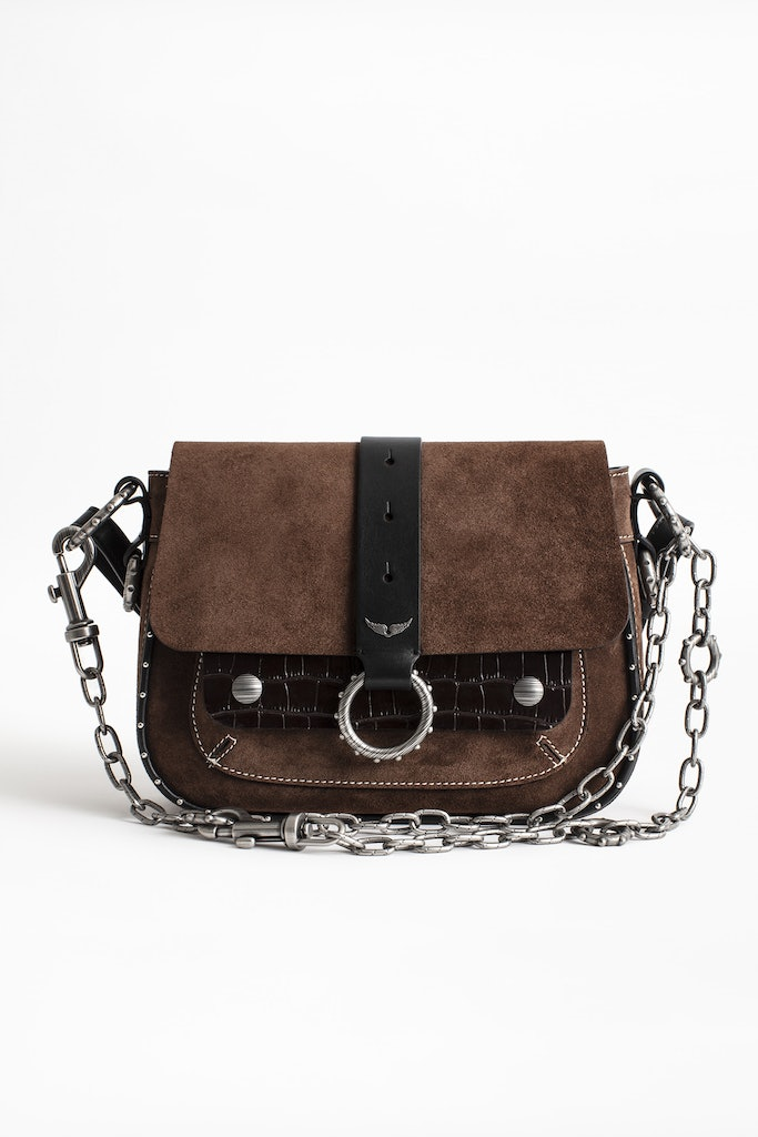 Sac Kate Suede Croco