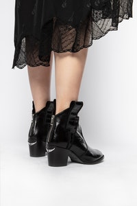 Molly Flash Vintage Croco Ankle Boots
