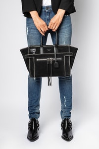 Tasche Candide Medium Zip Suede