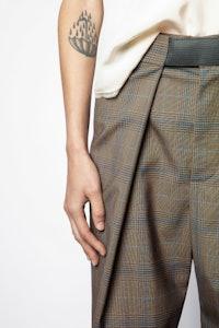 Pantalón Phoebe Cuadros
