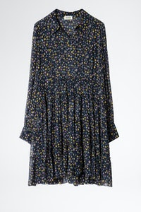 Rapidy Crinkel Print Etoiles Dress