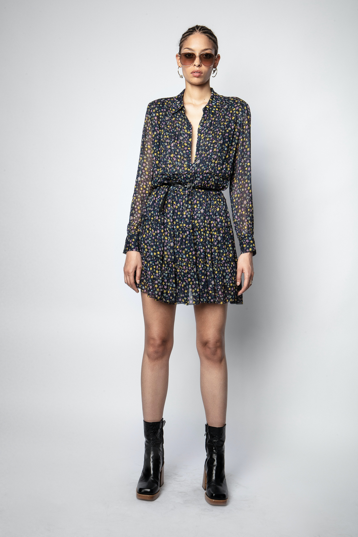 Kleid Rapidy Crinkel Print Etoiles