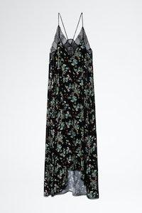 Vestido Risty Velvet Blossom