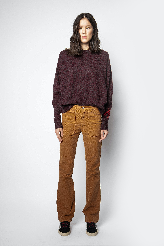 Pantalon Pista Velours Côtelé