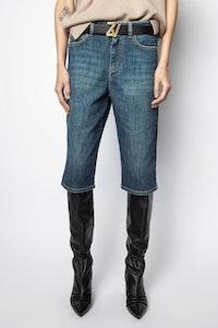 Petrol Denim Brut Shorts