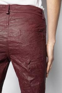 Phlamo Cuir Froissé Pants