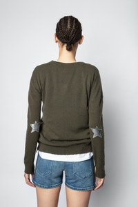 Cici Patch Stars Stars Cachemire Sweater